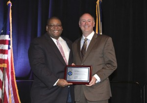David Wallace with NHTSA Administrator Strickland receiving the NHTSA Public Safety Award