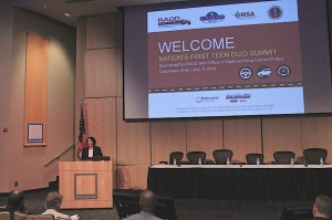 RADD President Meluso addresses those at the Summit.